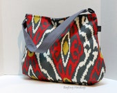 READY TO SHIP - The Newport Slouch Bag - Sherpa Ikat