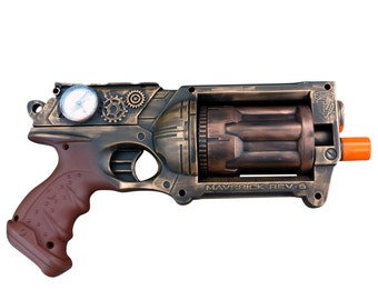 Steampunk MAVERICK toy Gun  Zombie walking man Nerf soft dart Vampire Victorian cosplay Limited