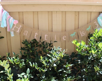 Shabby chic cowgirl rodeo personalized banner