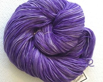 Hand Dyed Sock Yarn Avast ye Wildcats Royal Purple Hand Painted sockyarn 463 yards hand dyed fingering weight Treasured Toes TreasureGoddess