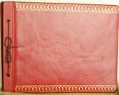 Vintage Red Leather Photo Album-Never Used