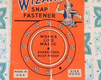 Vintage Wizard Sewing Snaps