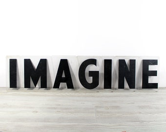 IMAGINE - Vintage Acrylic Marquee - 8 Inch Clear Plastic Letters