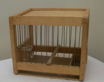 Vintage Wood & Wire Parakeet Canary Cage - McCurdy's Rochester