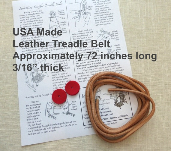USA Made Leather Treadle Sewing Machine Belt for Foot Powered Sewing Machines