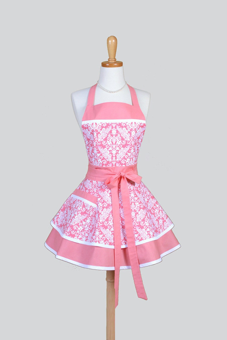 Ruffled Retro Aprons Cute Vintage Kitchen Womans Apron in