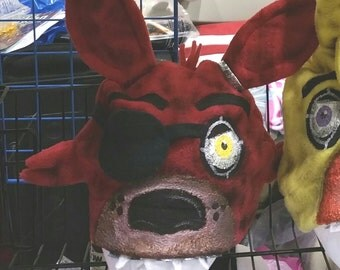 FIVE Nights at FREDDYS handpainted fleece hats fnaf FOXY handmade costume cosplay halloween gift glow in the dark eyes Freddy Chica Bonnie