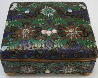 Antique Open Cloisonne Chinese Enamel Box