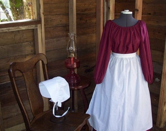 Girls Reenactment Renaissance Dress Only Colonial Victorian Steampunk Colors Available