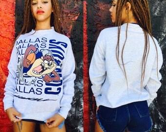Vintage Dallas Cowboy Tazmanian Devil Sweatshirt