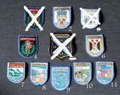 Scotland B - girl guides/girl scouts vintage travel destination badges, you choose one