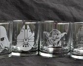 Star Wars Rocks Set, Sandcarved for Wookies, Stormtroopers, Luke, Hans Solo, Yoda Comicon Lovers by Jackglass on Etsy