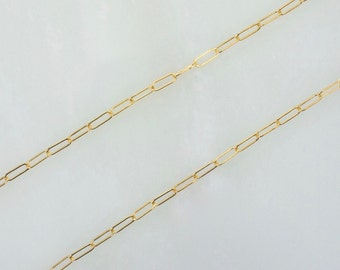 3 Feet 14K Gold Filled 2x5mm Drawn Cable Chain By The Foot