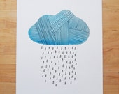 Rainy Day Watercolor Print