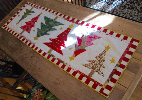 Christmas Trees Table Runners Page Three