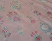 Vintage Cotton Pink Flowers Fabric 12.5 Yards