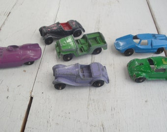 Vintage Car Jeep Toy Metal Tootsie lot of 6