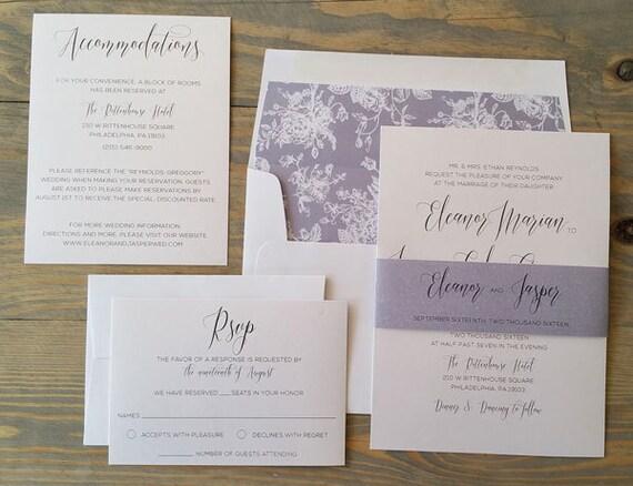 elegant wedding invitation, simple wedding invitation, shimmer wedding invitation, modern wedding invitation, customize color and liner
