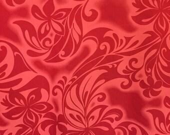 Girls Hawaiian Hula Pa'u Skirt Set Red