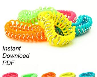 PDF Jewelry Tutorial - European 4 in 1 Stretch Bracelet Instructions