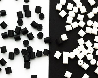 50 Hypoallergenic Black or White Ear Nuts - Premium Ear Donuts - Earring Holders - Those Things That Keep Your Earrings In Your Ears