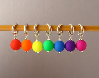 Neon Disco Stitch Markers for Knitting