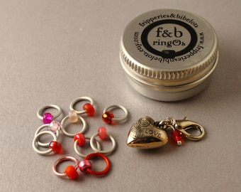 ringOs Love Is In The Air LIMITED EDITION Snag-Free Ring Stitch Markers for Knitting