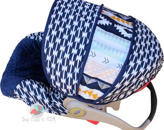 Infant Car Seat Cover Tomahawk Stripe