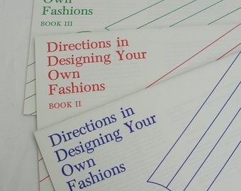 Vintage European School of Designs Design your own fashions 3 books