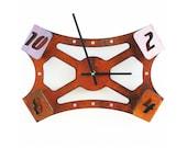 Folding Over IV, Medium Wall Clock, Rusted Wall Clock, rustic wall clock, unique wall clock, modern wall clock, steampunk wall clock