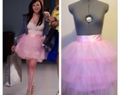 Pink Carrie Bradshaw Sex and the City Tulle Skirt 3 layers Ballerina As Seen on MTV Awkward