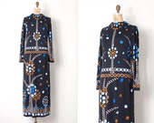 vintage 1970s Paganne dress / 70s Paganne maxi dress / Oh, Buttons!