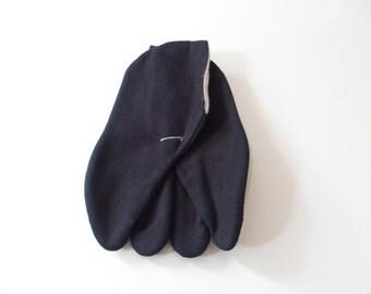 Tabi Black For Children Japanese Split Toe Socks Traditional Style 一