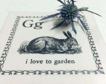 4 Tile Coasters - I Love to Garden