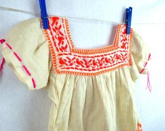 Sweet Boho Girl's Embroidered  GauzyTunic Top