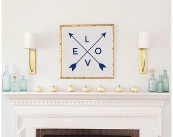 Arrow LOVE Print