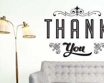 Thank you - Wall art Decal