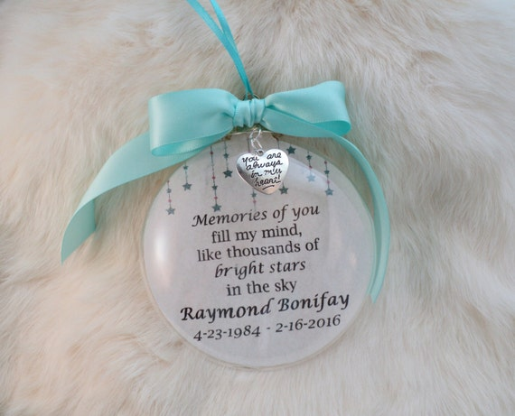 In Memory Ornament Memories Of You Fill My Mind Mother