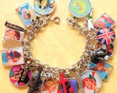 Disney's Peter Pan Altered Art Upcycled Charm Bracelet