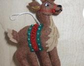 Bucilla Felt REINDEER  CHRISTMAS Ornament  from the Nordic Santa Collection