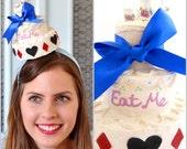 Alice in wonderland Cake Fascinator, Alice in wonderland cake hat, Alice in wonderland hat, Alice in wonderland tea party Fascinator