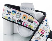 dSLR or SLR Camera Strap, Retro Cameras, With/Without Pocket, Camera Neck Strap, Quick Release or Plain ends, 201 a
