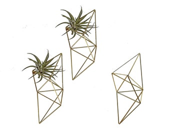 Set of 3 | VOX | Abstract Wall Prism Sculpture | Air Plant Hanger | Himmeli