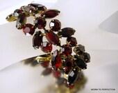 Kramer of New York Ruby Red Rhinestone Bracelet