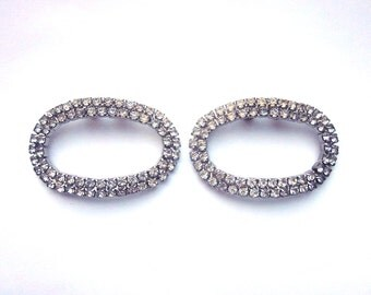 Vintage Rhinestone Shoe Clips Shoe Jewelry Formal Accessory