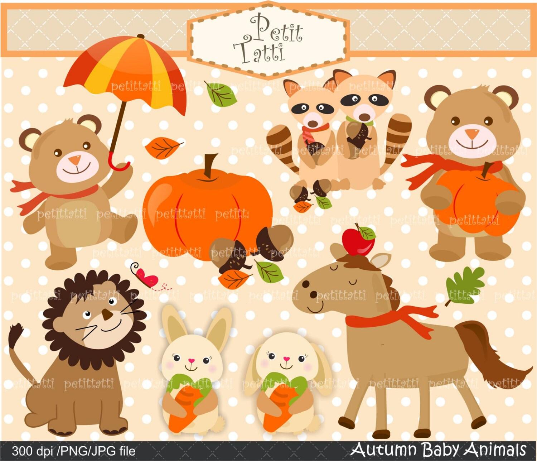 Su vendita carina autunno foresta animali clip art gli - Animali in inverno clipart ...