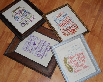 Matted Embroidery (FRAME NOT INCLUDED)