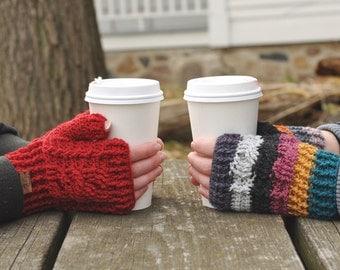 Braided Fingerless Gloves