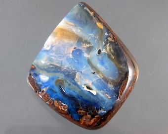 All Natural Australian Boulder Opal Designer Cabochon