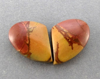Cherry Creek Jasper Cabochon Matched Pair